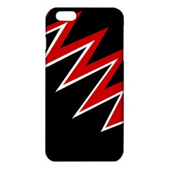 Black And Red Simple Design Iphone 6 Plus/6s Plus Tpu Case by Valentinaart