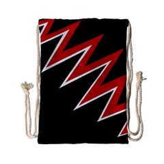 Black And Red Simple Design Drawstring Bag (small) by Valentinaart