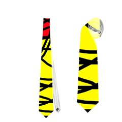Yellow Abstract Pattern Neckties (one Side)