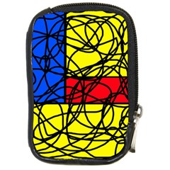 Yellow Abstract Pattern Compact Camera Cases by Valentinaart
