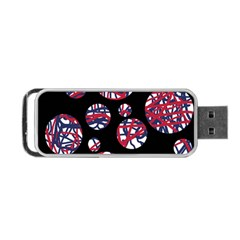 Colorful Decorative Pattern Portable Usb Flash (one Side) by Valentinaart