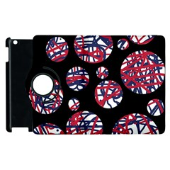 Colorful Decorative Pattern Apple Ipad 2 Flip 360 Case by Valentinaart