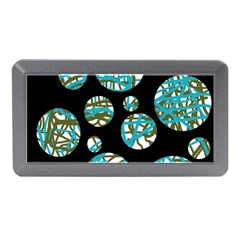 Decorative Blue Abstract Design Memory Card Reader (mini) by Valentinaart