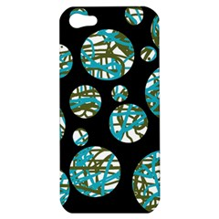 Decorative Blue Abstract Design Apple Iphone 5 Hardshell Case