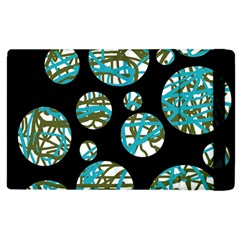 Decorative Blue Abstract Design Apple Ipad 2 Flip Case by Valentinaart