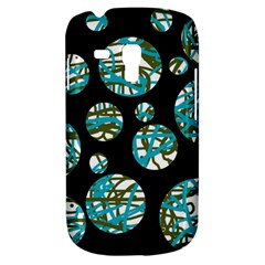 Decorative Blue Abstract Design Samsung Galaxy S3 Mini I8190 Hardshell Case by Valentinaart