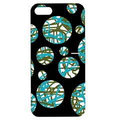 Decorative Blue Abstract Design Apple Iphone 5 Hardshell Case With Stand by Valentinaart