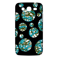 Decorative Blue Abstract Design Samsung Galaxy Mega 5 8 I9152 Hardshell Case  by Valentinaart