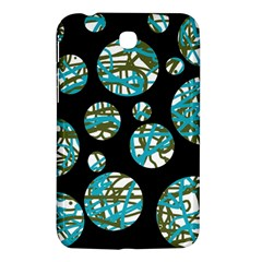 Decorative Blue Abstract Design Samsung Galaxy Tab 3 (7 ) P3200 Hardshell Case  by Valentinaart