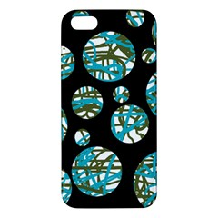 Decorative Blue Abstract Design Iphone 5s/ Se Premium Hardshell Case by Valentinaart