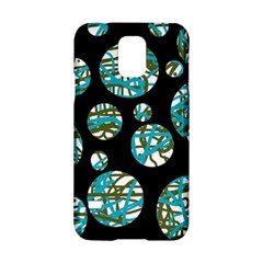 Decorative Blue Abstract Design Samsung Galaxy S5 Hardshell Case  by Valentinaart
