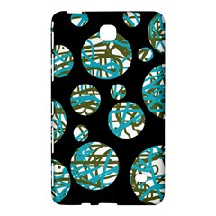 Decorative Blue Abstract Design Samsung Galaxy Tab 4 (8 ) Hardshell Case  by Valentinaart