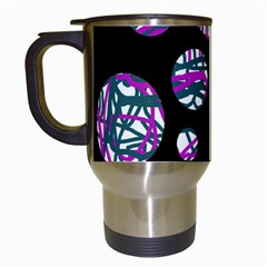 Purple Decorative Design Travel Mugs (white) by Valentinaart