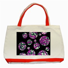 Purple Decorative Design Classic Tote Bag (red) by Valentinaart