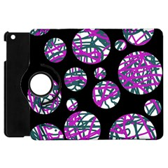 Purple Decorative Design Apple Ipad Mini Flip 360 Case by Valentinaart