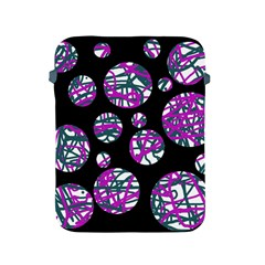 Purple Decorative Design Apple Ipad 2/3/4 Protective Soft Cases by Valentinaart