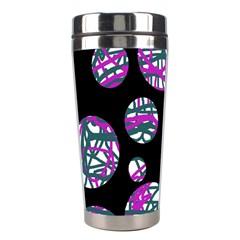 Purple Decorative Design Stainless Steel Travel Tumblers by Valentinaart