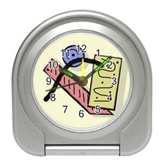 Decorative Abstraction Travel Alarm Clocks by Valentinaart