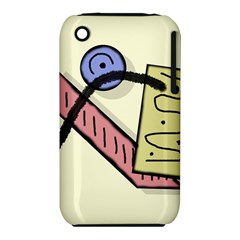 Decorative Abstraction Apple Iphone 3g/3gs Hardshell Case (pc+silicone) by Valentinaart