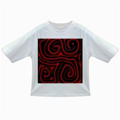 Red And Black Abstraction Infant/toddler T Shirts by Valentinaart