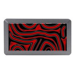 Red And Black Abstraction Memory Card Reader (mini) by Valentinaart