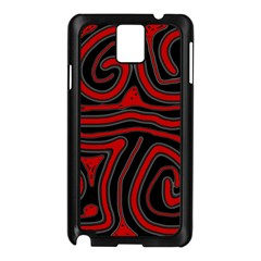 Red And Black Abstraction Samsung Galaxy Note 3 N9005 Case (black) by Valentinaart