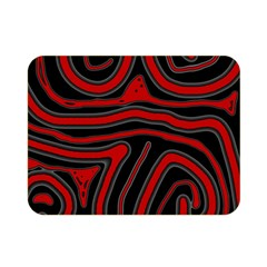 Red And Black Abstraction Double Sided Flano Blanket (mini)  by Valentinaart
