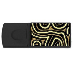 Brown Elegant Abstraction Usb Flash Drive Rectangular (4 Gb)  by Valentinaart