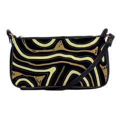 Brown Elegant Abstraction Shoulder Clutch Bags by Valentinaart