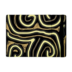 Brown Elegant Abstraction Apple Ipad Mini Flip Case by Valentinaart