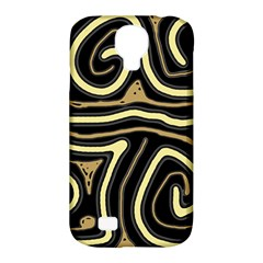 Brown Elegant Abstraction Samsung Galaxy S4 Classic Hardshell Case (pc+silicone) by Valentinaart
