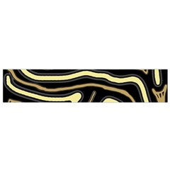 Brown Elegant Abstraction Flano Scarf (small) by Valentinaart
