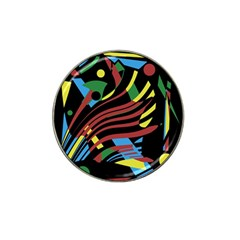 Colorful Decorative Abstrat Design Hat Clip Ball Marker (4 Pack) by Valentinaart