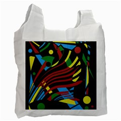 Colorful Decorative Abstrat Design Recycle Bag (one Side) by Valentinaart