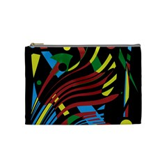 Colorful Decorative Abstrat Design Cosmetic Bag (medium)  by Valentinaart