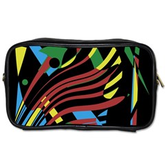 Colorful Decorative Abstrat Design Toiletries Bags by Valentinaart