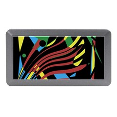 Colorful Decorative Abstrat Design Memory Card Reader (mini) by Valentinaart