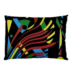 Colorful Decorative Abstrat Design Pillow Case (two Sides) by Valentinaart