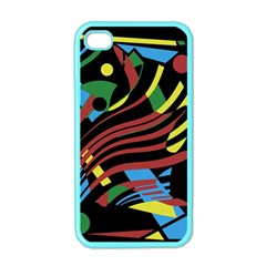 Colorful Decorative Abstrat Design Apple Iphone 4 Case (color) by Valentinaart
