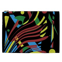 Colorful Decorative Abstrat Design Cosmetic Bag (xxl)  by Valentinaart