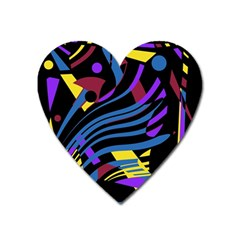 Decorative Abstract Design Heart Magnet by Valentinaart