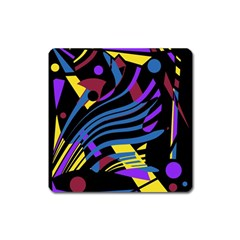 Decorative Abstract Design Square Magnet by Valentinaart