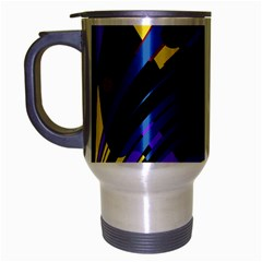 Decorative Abstract Design Travel Mug (silver Gray) by Valentinaart