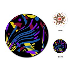 Decorative Abstract Design Playing Cards (round)  by Valentinaart