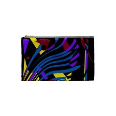 Decorative Abstract Design Cosmetic Bag (small)  by Valentinaart