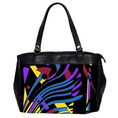 Decorative Abstract Design Office Handbags (2 Sides)  by Valentinaart