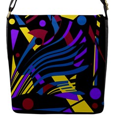 Decorative Abstract Design Flap Messenger Bag (s)