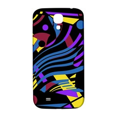 Decorative Abstract Design Samsung Galaxy S4 I9500/i9505  Hardshell Back Case by Valentinaart