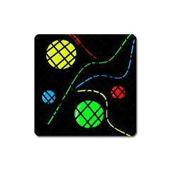 Colorful Design Square Magnet by Valentinaart