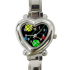 Colorful Design Heart Italian Charm Watch by Valentinaart